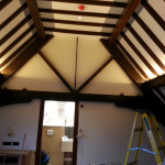 interior staining and painting at a five star hotel