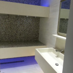 Another view of completion of tiling work in hotel