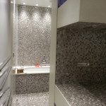 Bathroom decor and tiling at hotel