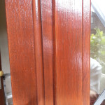 Close up view of finished woodwork