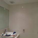 Tiling work in bathroom after completion