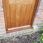 Finished door after staining process is completed