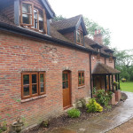 Exterior staining, painitng in classic tudor style