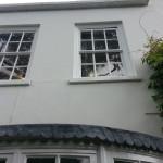 Exterioir decorating preperation process, before restoration work begins